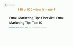 Getting your email marketing right